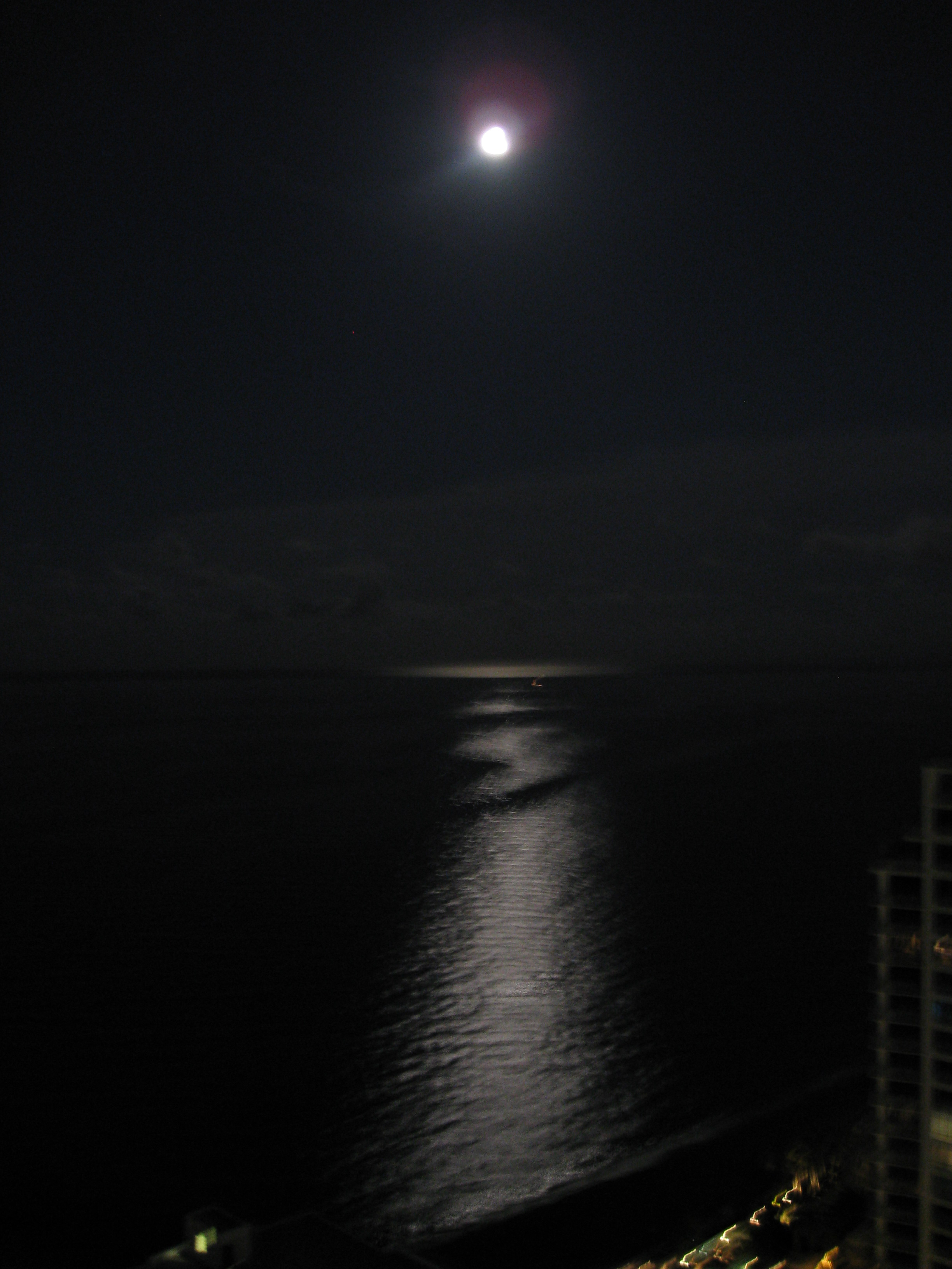 moonlight over the ocean